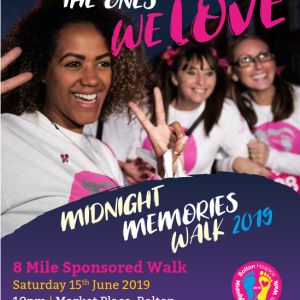 Midnight Memories Walk 2019 Bolton Hospice