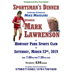 Sportsman's Dinner at Hawcoat Park