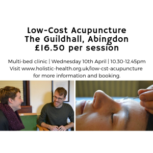 Low-cost Community Acupuncture, just £16.50!