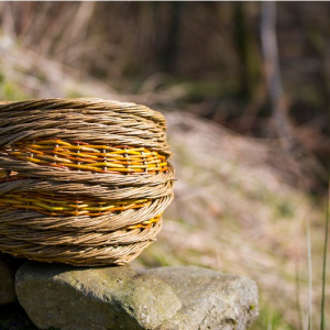 Willow baskets - Rope coil effect