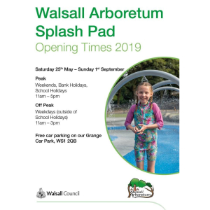Splash Pad at Walsall Arboretum Opening Times for 2019!