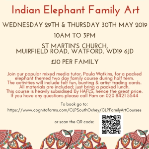 Whitsun Family Art - Indian Elephant Theme