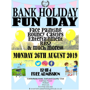 Bank Holiday Fun Day at Calderfields!