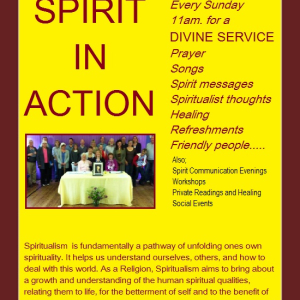 Regular Spiritualist Sunday service
