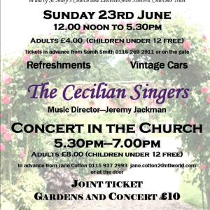 Concert by the Cecilean Singers in St Mary's Church Barkby.