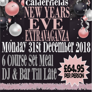 New Years Eve Extravaganza at Calderfields Golf and Country Club