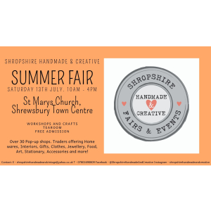 Shropshire Handmade and Creative Summer Fair 2019