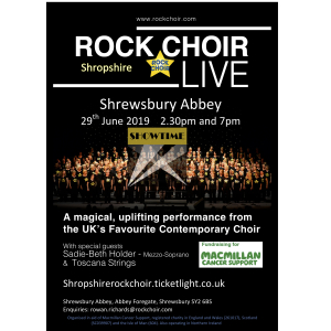 Rock Choir Shropshire LIve - Showtime