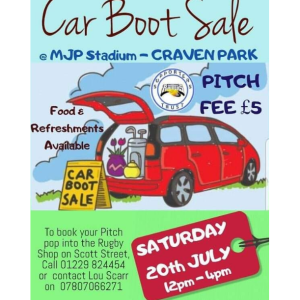 Barrow raiders Supporters Trust car Boot Sale