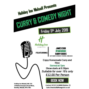 Curry & Comedy Night @ Holiday Inn Walsall