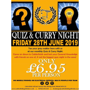 Quiz and Curry Night!