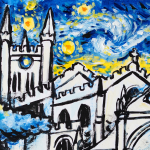 Workshop - Painting Historic Newbury…. In the Style of Vincent Van Gogh - St Nics by Night