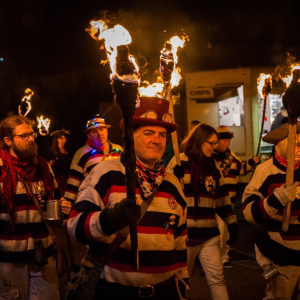 Bonfire Society Procession & Fireworks at Eastbourne Seafront