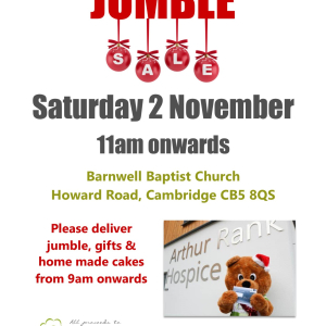 Jumble Sale at Barnwell Baptist Church