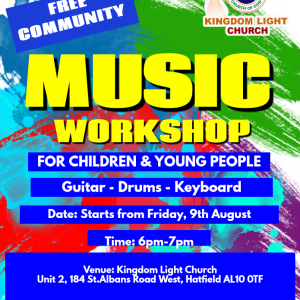 FREE Music workshop for children and young pepole age 11-16 in Hatfield