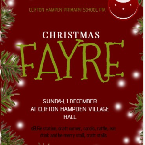 Clifton Hampden Christmas Fayre 2019