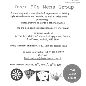 Over 50s Mens Group