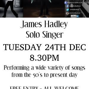 James Hadleyy Solo Singer LIVE at the Bridgtown Social Club
