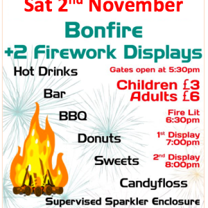 20th Walsall Scouts Annual Bonfire and Fireworks