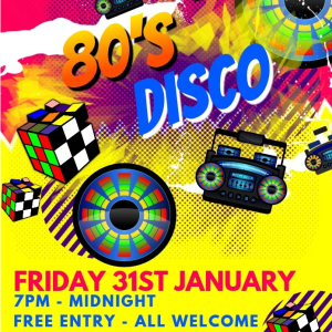 80s Disco Night at the Bridgtown Social Club