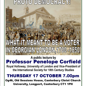 PROTO DEMOCRACY: WHAT IT MEANT TO BE A VOTER IN GEORGIAN LONDON, 1700 - 1850