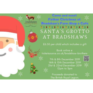 Meet Father Christmas at Bradshaw's Farm Shop & Cafe