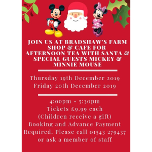 Christmas Afternoon Tea with Santa & Special Guests