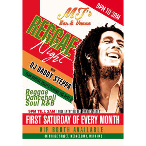 Reggae Night with DJ Daddy Steppa at MJ's Bar and Venue