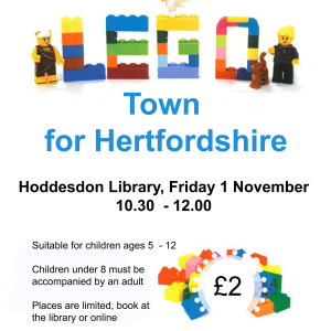 Ready, Steady, Build a Lego Town for Hertfordshire