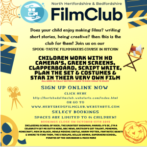 October Half Term FilmMaking Course - Children up to age 12