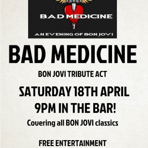 Bad Medicine - An evening of Bon Jovi LIVE at the Bridgtown Social Club
