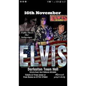 One Night of Elvis at Darlaston Town Hall