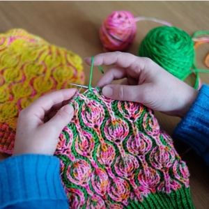 Knitting workshop with Julie Knits in Paris at Countess Ablaze, Jan 2020