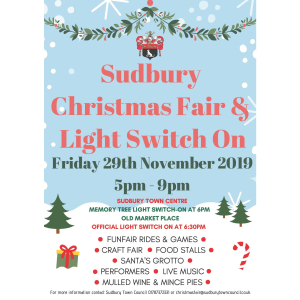 Sudbury Christmas Light Switch on and Fair