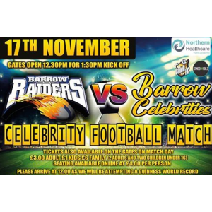 Barrow Raiders vs Barrow Celebrities Charity Football Match