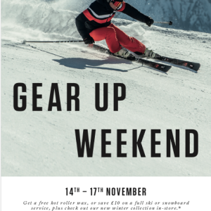 GEAR UP WEEKEND with Snow + Rock