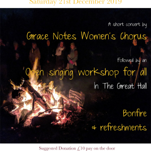 Grace Notes Women's Chorus SOLSTICE SINGING at The Abbey Sutton Courtenay