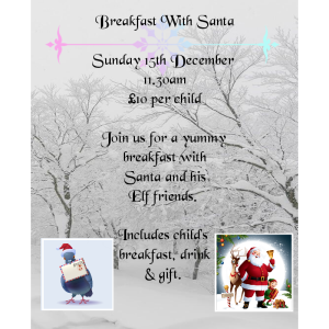 Breakfast with Santa at Pigeon's Parlour