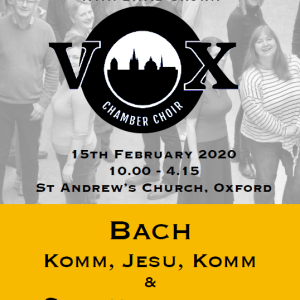 Come and Sing Bach with David Crown and vOx Chamber Choir