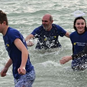 Boxing Day Dip on Eastbourne Seafront