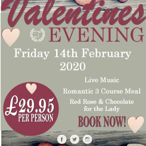 Valentines Evening at Calderfields Golf and Country Club