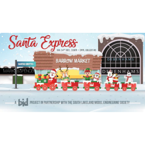 Santa Express in Barrow Town Centre