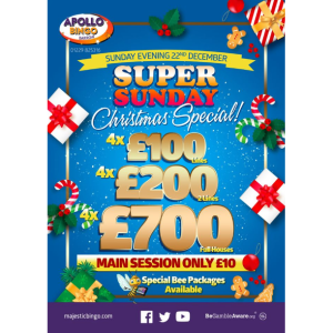 Super Sunday Xmas Special at Apollo Bingo