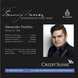 The Fanny Davies International Piano Series: Alexander Panfilov