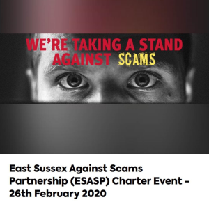 East Sussex Against Scams Partnership (ESASP) Charter Event
