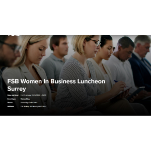 FSB Women In Business Luncheon in #Woking #FSBSurrey
