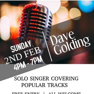 Dave Golding Solo Singer LIVE at the Bridgtown Social Club