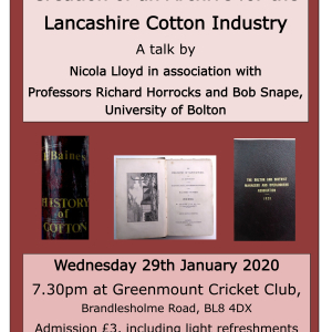Creation of an Archive for the Lancashire Cotton Industry