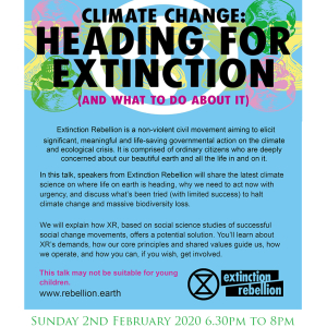 The Abbey Sutton Courtenay, Log Fire Evenings Present: EXTINCTION REBELLION