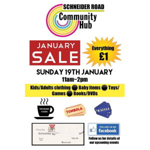 Schneider Rd. Community Hub January Sale